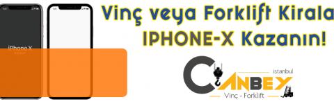 VİNÇ KİRALAYIN IPHONE-X KAZANIN